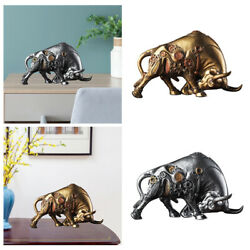 Tabletop Animal Figurine Resin Craft Bull Statue Sculpture For Car Dashboard