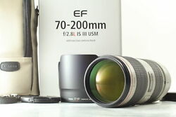 Unused Canon Ef 70-200mm F/2.8l Is Iii Usm Zoom Lens From Japan