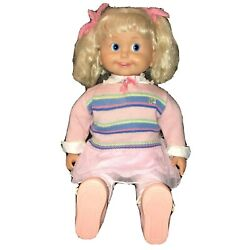 Vtg 1986 Playmates Cricket Talking Doll Tape Works Eyes And Mouth Move