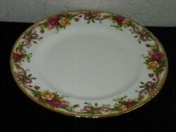 Royal Albert Old Country Roses Ruby Celebration Ribbon Collection Salad Plate