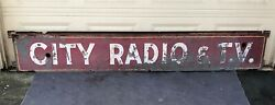 City Radio And T.v. Vintage Antique Neon Sign