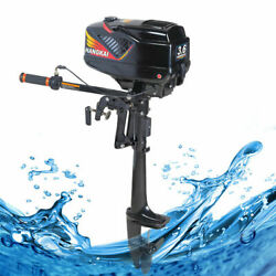 3.6hp 2 Stroke Electric Start Outboard Motor Boat Engine Water Cooling System