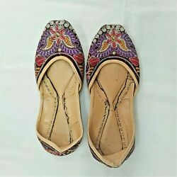Vintage Ethnic Wedding Bridal Embroidered Shoes From Kurdistan Middle East