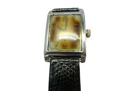 Waltham Art Deco 1925 14kt White Gold Watch Runs For Restoration Glass And Case
