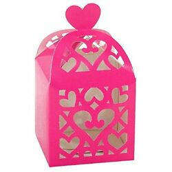 Amscan 380015 Bright Pink Lantern Favor Boxes Wedding And Engagement Party