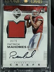 2017 Limited Patrick Mahomes Rpa Rookie Rc Auto Patch 29/75