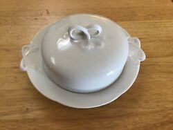 """Antique Hutschenreuther """"alice No Trim"""" Covered Butter Dish"""