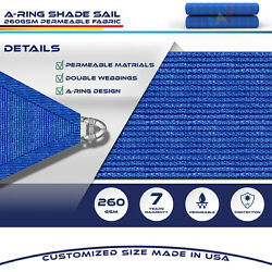 Blue 40 Ft Heavy Duty Steel Wire Cable Sun Shade Sail Canopy Patio Pool