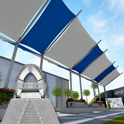 Gray 46 47 48 Ft Heavy Duty Steel Wire Cable Sun Shade Sail Canopy Patio Pool