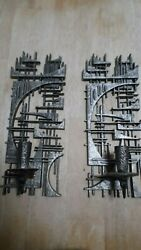 Burwood Products Co. Brutalist Decorative Wall Sconces