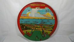 Antique Mcdowell 1920s No 55 Mac Mystery Gun Tin Ww 1 Airplane Toy Marble Game