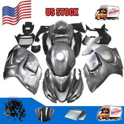 G14 Injection Grey Tank Cover Fairing Kit Fit For Suzuki 2008-15 Gsxr1300 A068