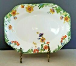 Vintage Steubenville China 11 Platter White With Red And Yellow Flowers