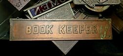 Antique Corporation Business Book Keeper C1920