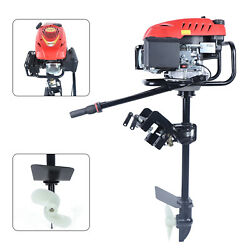 Heavy Duty Outboard Motor Air Cooling Boat Engine Pull Start 6 Hp 4-stroke