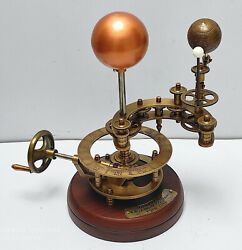 Solar And Lunar Eclipse Orrery Antique Brass Outer Space Science Working Model