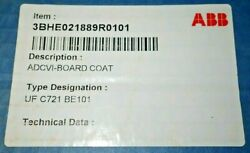 Abb 3bhe021889r0101 Uf C721 Be101 Adcvi Board / Voltage/current Card New In Box