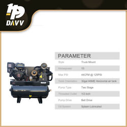 13hp Gas-powered 180psi Air Compressor 420cc Engine 30gal Tank 24cfm 2 Stage