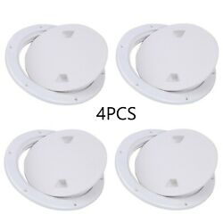 4pcs White Marine Boat Inspection Hatch Rv 7 Inch Round Deck Plate Access Cover