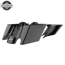 Blackened Cayenne Stretched Extend Saddlebags For 14+ Harley Flhr Flhxs Fltrx