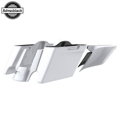 Crushed Ice Pearl Stretched Extend Saddlebags For 14+ Harley Flhr Flhxs Fltrx