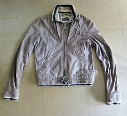 Dolce Gabbana Size S / 46 Italian Goat Skin Suede Leather In Sand Color Like New
