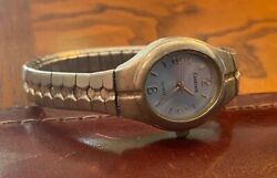 Women's Carriage By Timex Watch, Silver Tone With Pale Blue Face