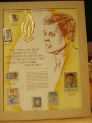 Authentic Stamp Tribute To John F. Kennedy World Of Stamps Collectibles/envelope