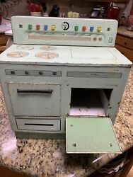 Vintage Wolverine Metal Stove Oven Child Toy Green