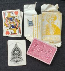1870and039s A. Dougherty Euchre Game Deck 32 Playing Cards With Paper Wrapping