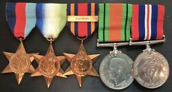 Ww2 Naval Medal Group 39/45/ Atlantic / Burma Star With Clasp Pacific.