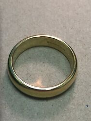 Menand039s And Co 18k Yellow Gold Wedding Band Size 12 - 6mm Wide