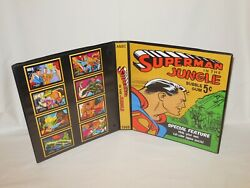 Custom Made 1968 Superman In The Jungle Trading Card Album Binder Graphics Only