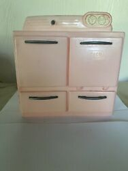 Vintage Tico Toys Little Miss Housekeeper Plastic Play Kitchen Stove Pink