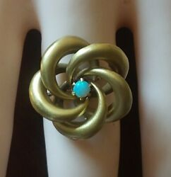 Antique 10 K Yellow Gold Love Knot Conversion Ring Size 6.5