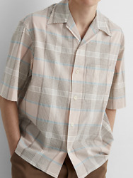 Lemaire Camp Collar Shirt Checked Button Size Medium / It 48