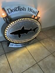 Dogfish Head Beer Light Up Sign Very Rare Man Cave Sign Bar Sign Display Sign