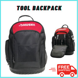 Husky Tool Backpack Padded Air Mesh Back Panel And Shoulder Straps Waterproof