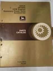 John Deere 6466a Oem Engine And Accessories Parts Catalog Pc-1562