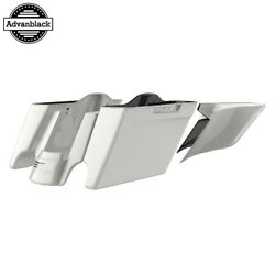 Stone Washed White Pearl Stretched Saddlebags For 14+ Harley Flhr Flhxs Fltrx