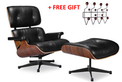 High-end Eames Lounge Chair And Ottoman Replica, Premium Real Leather Tall