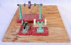 Mamod Steam Engine Pulley Accessories On Wood Board