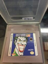 Batman Return Of The Joker Nintendo Game Boy Authentic - Tested And Working