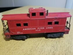 American Flyer Lines Red Caboose 938 Used