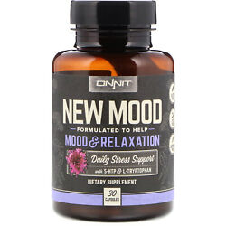Onnit New Mood Daily Stress And Sleep Supports Relaxation 60 Caps New