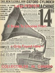 Columbia Graphophone 1908 Sears Talking Machine Cylinder = Poster 8 Sizes 17-41