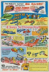 Ssp 1971 Gyro-power Toy Cars Hot Wheels Ish =poster Comic Book 8 Sizes 18-3 Ft