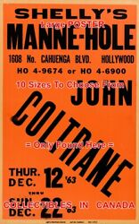 John Coltrane 1963 Concert Shelly's Manne-hole Hollywood=poster 8sizes 17-5.7ft
