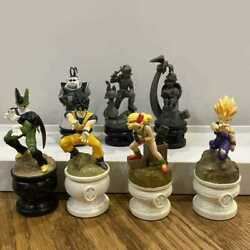 Dragon Ball Chess Piece Collection 7 Piece Figure King Kai Used From Japan