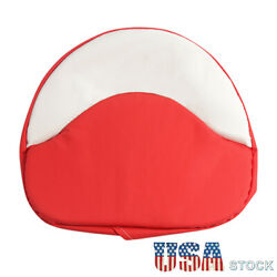 Red And White Tractor Seat Cushion Padded Fit For Farmall H M Series 300 450 Cub